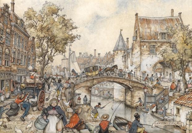 Anton Pieck Utrecht straatleven