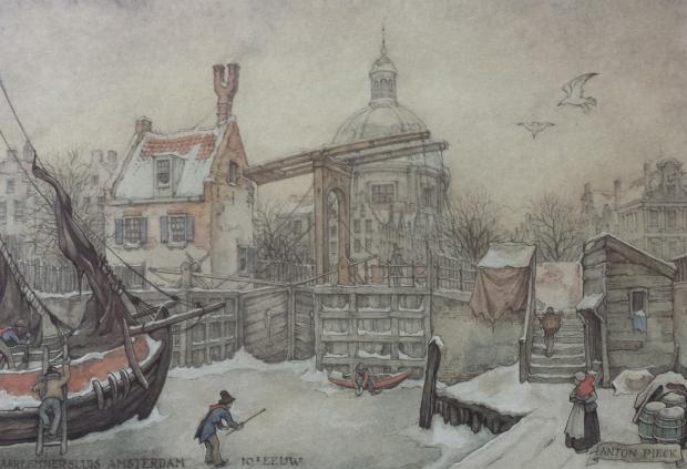 Anton Pieck kalender 1987 januari:februari