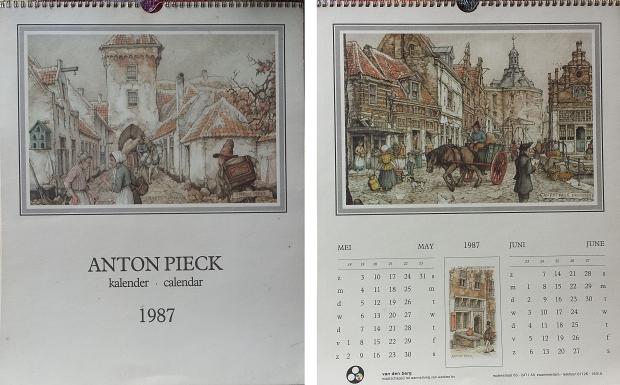 Anton Pieck kalender 1987 platen