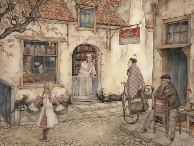 Anton Pieck straatbeeld