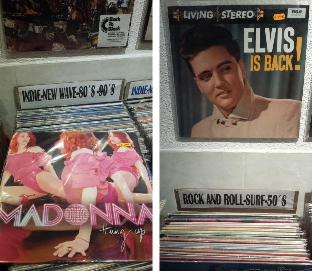 Discos Satélite Madrid Elvis Madonna