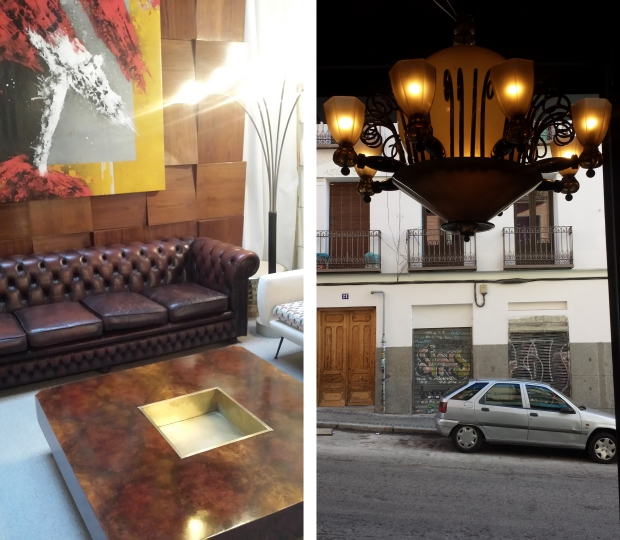 LA Studio Madrid koffietafel en uitgang