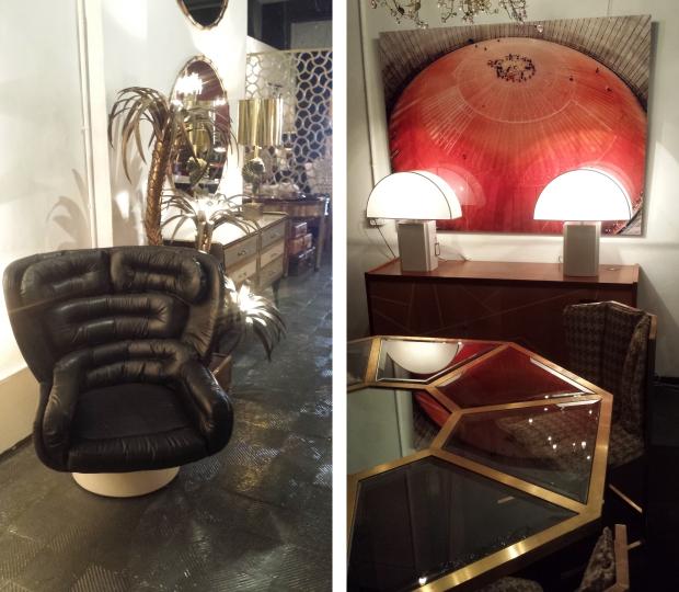 LA Studio Madrid vintage fauteuil en tafel