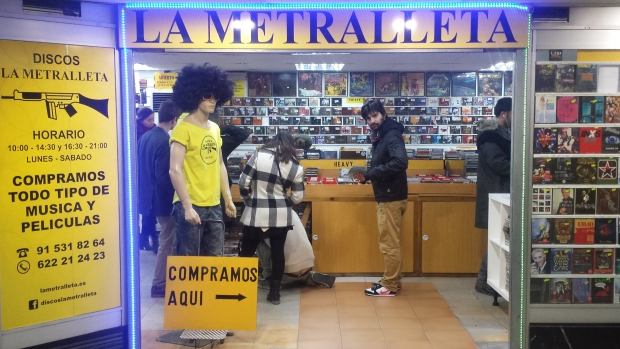 La Metralleta Madrid platenzaak