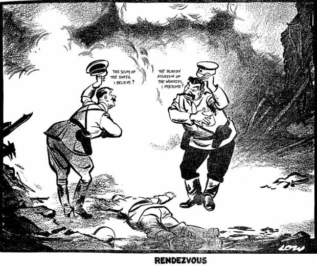 Spotprent Hitler Tweede Wereldoorlog