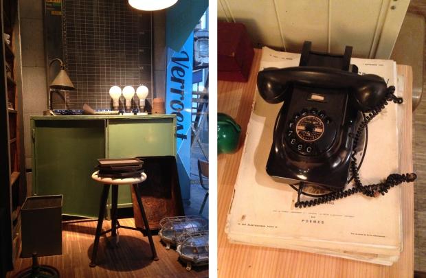 Verroest vintage telefoon
