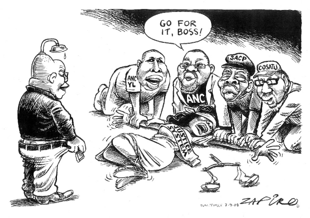 Zapiro spotprent