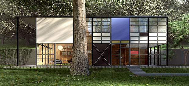 Eames-huis-zijkant