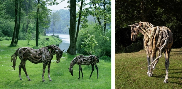 Heather Jansch paarden in de wei