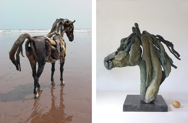 Heather Jansch paardenhoofd