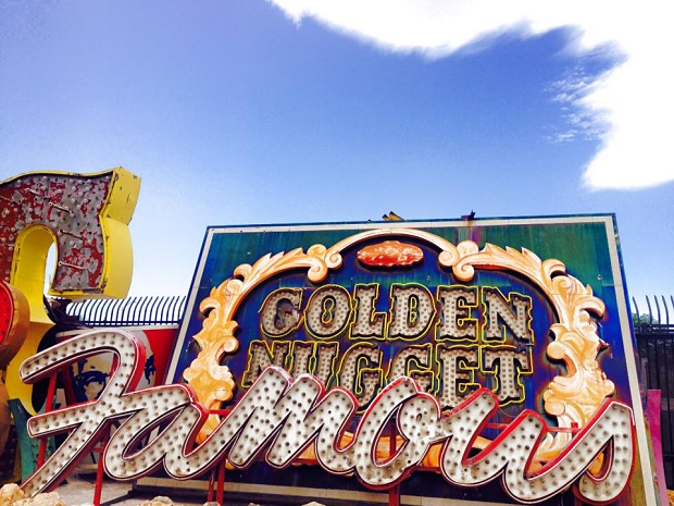 Neon Museum Nugget letters