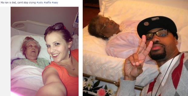 Selfies met overleden grootmoeders
