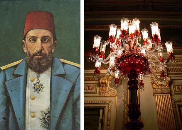 Abdulhamid rode kandelaar Yildiz paleis