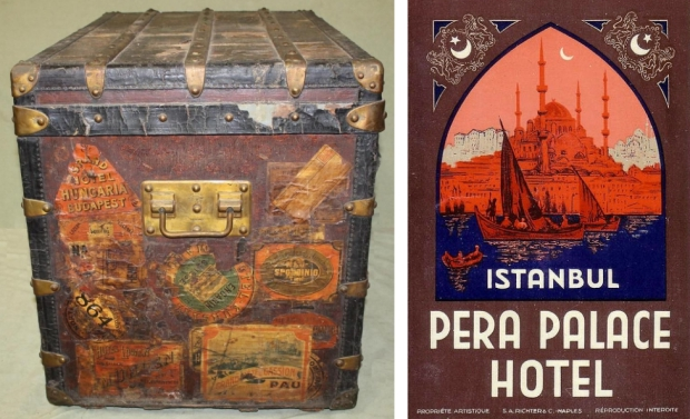 Antieke koffer Istanbul
