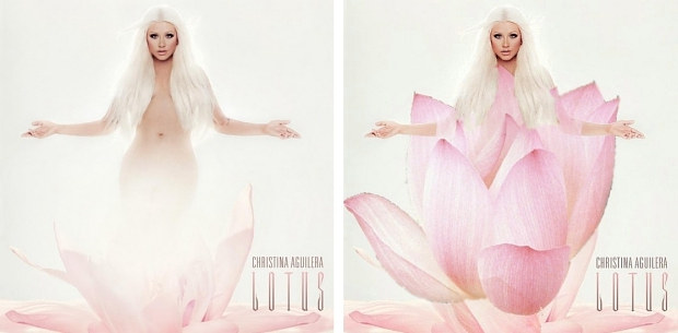 Christina Aguilera Lotus censuur
