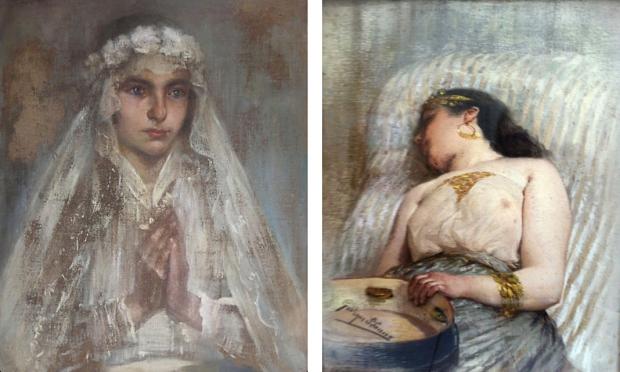 Franse antieke schilderijen