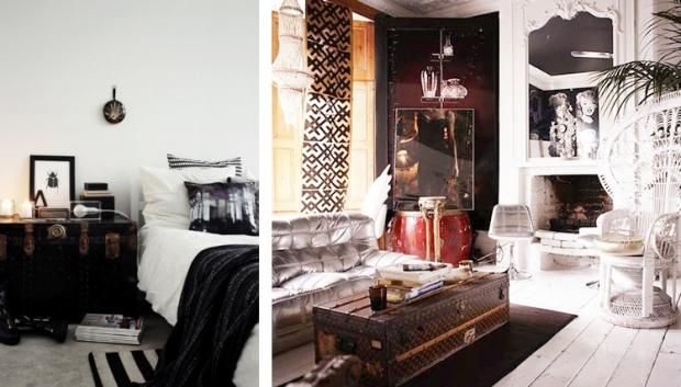 Hutkoffer slaapkamer en