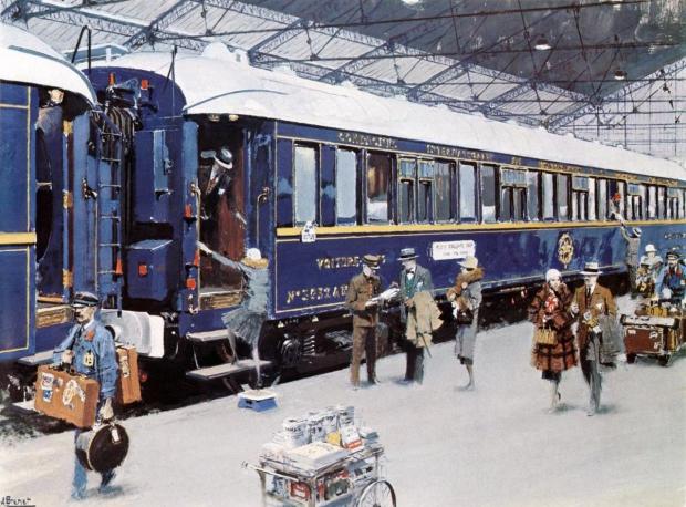 Le train blue poster