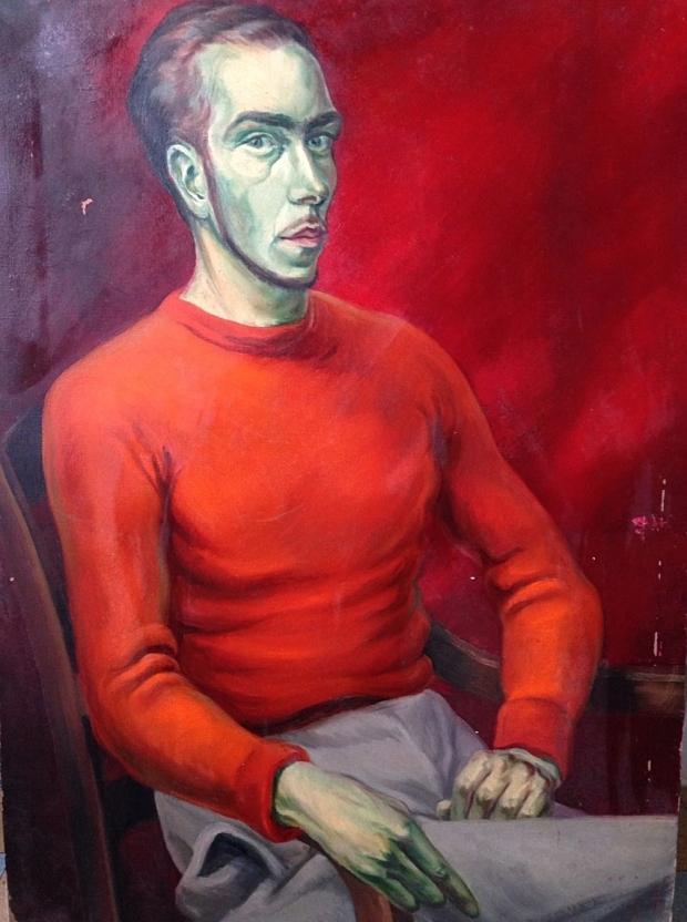 Rood schilderij man 2