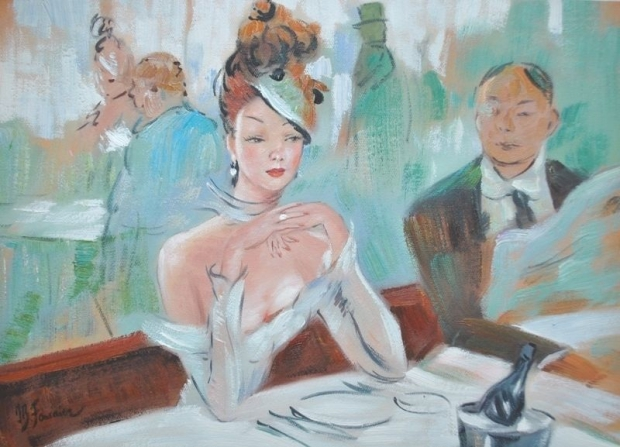 Schilderij Parijse vrouw