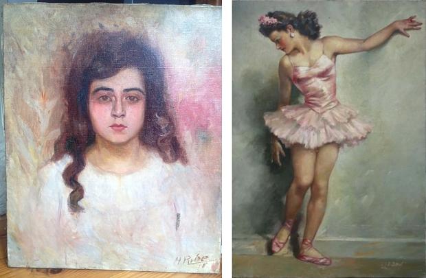 Schilderij jong meisje ballerina