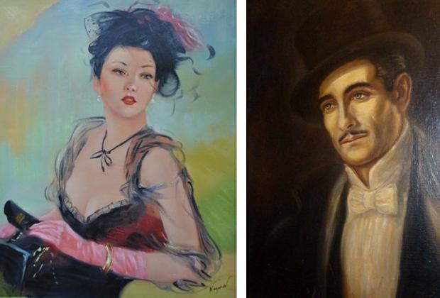 Schilderijen man en vrouw