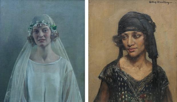 Schilderijen vrouwen bruid