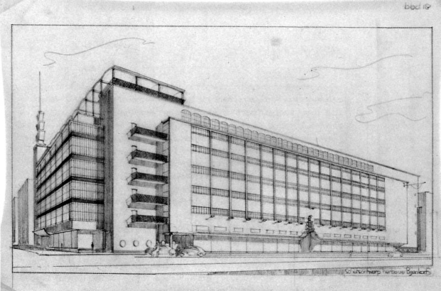 Herstelplan oude Bijenkorf Rotterdam Dudok