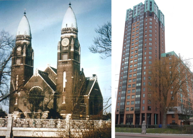 Koninginnekerk toen en nu