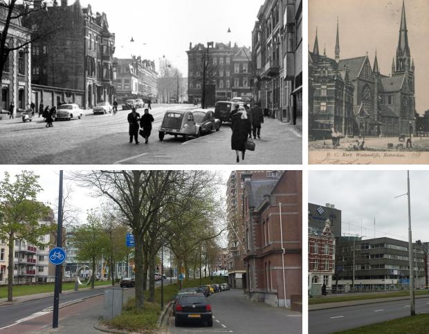 Rotterdam toen en nu Westzeedijk