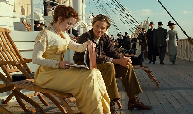 Titanic dekstoel Rose en Jack