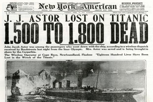 Titanic krant