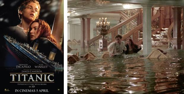 Titanic zinkende 3D
