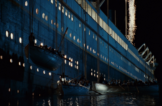 Titanic zinkt reddingsboten