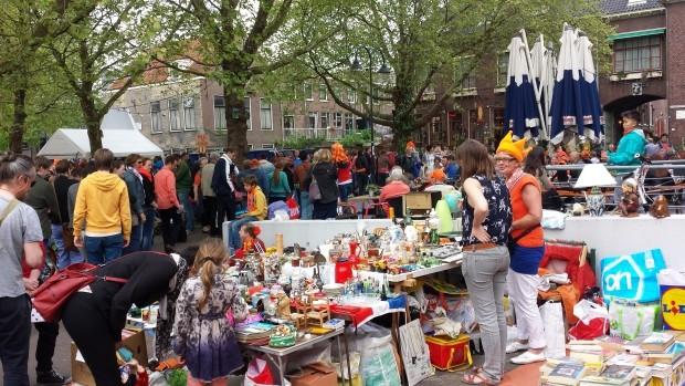 Vrijmarkt Delft Koningsdag