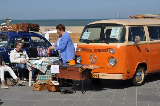 Aircooled Scheveningen oranje Volkswagen busje