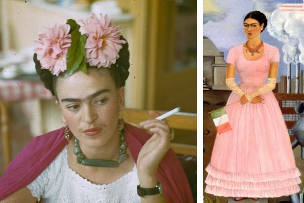 Frida Kahlo roze