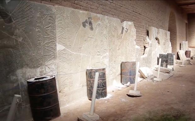 Islamitische Staat explosieven Nimrud