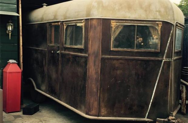 Oldtimers Texas schuur caravan
