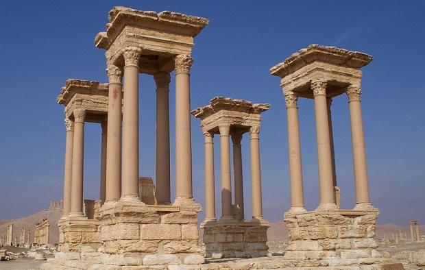 Palmyra Tetrapylon antieke stad