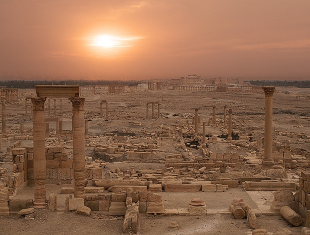 Palmyra zonsondergang