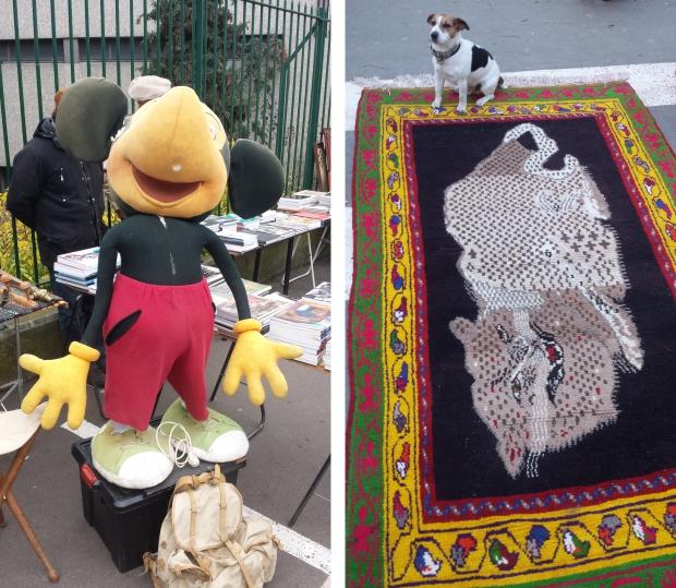 Parijs vlooienmarkt Vanves Mickey Mouse