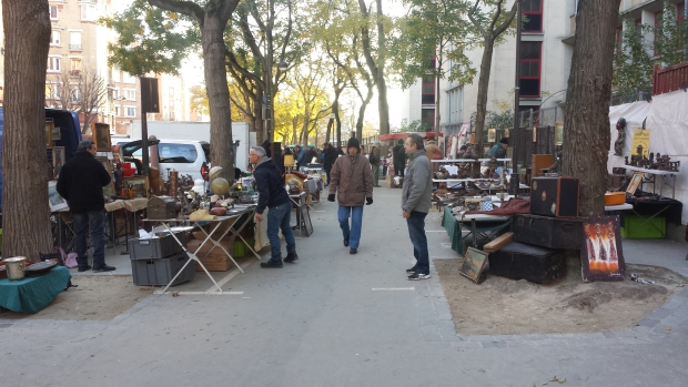 Parijs vlooienmarkt Vanves ochtend 2