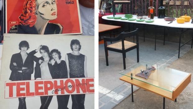 Parijs vlooienmarkt Vanves tafeltje