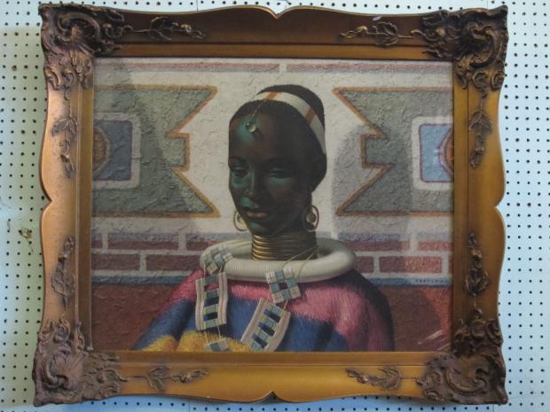 Tretchikoff Afrikaans schilderij vrouw