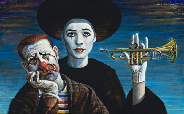Tretchikoff Clowns schilderij