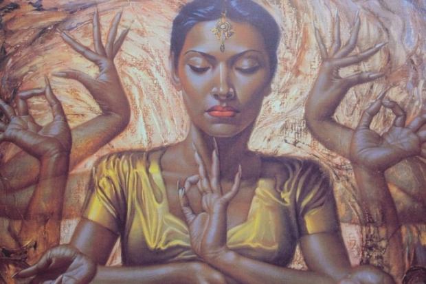 Tretchikoff Hindu Dancer schilderij
