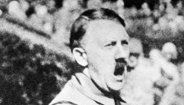 Adolf Hitler schreeuwend