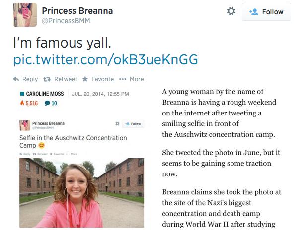 Auschwitz selfies