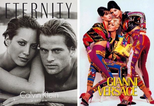 Christy Calvin Klein en Versace